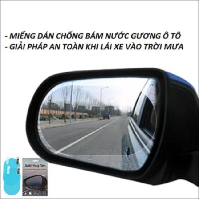 Bộ 2 Miếng film chống nước cho gương chiếu hậu ô tô loại to 15cmx10cm