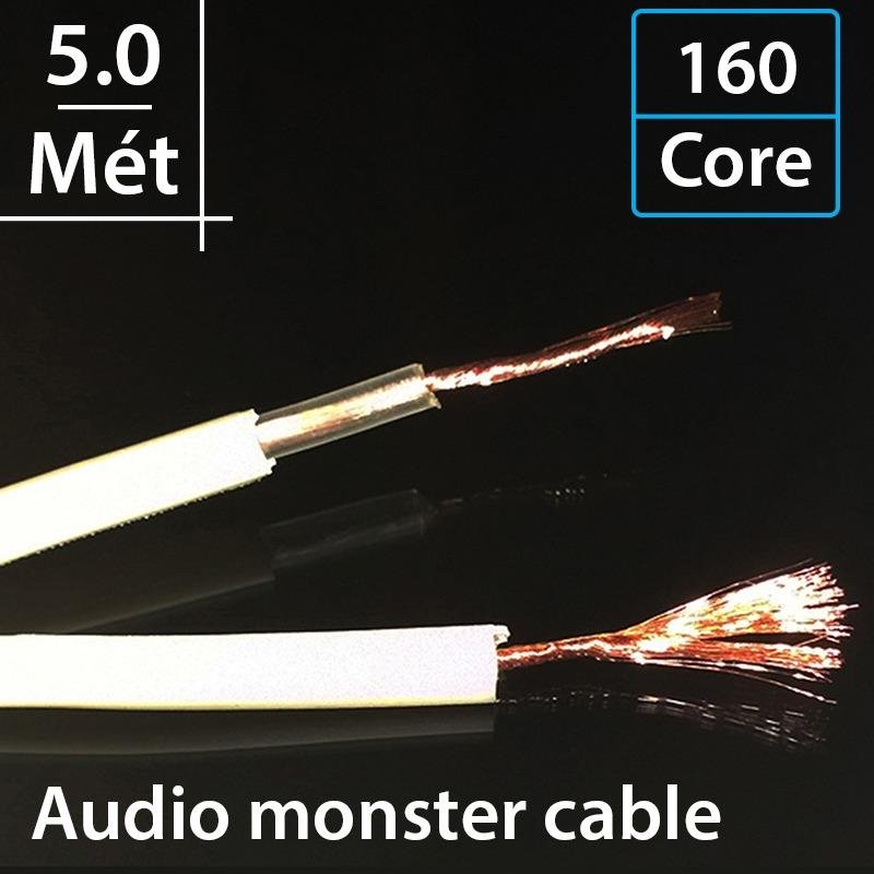Ôn Tập Day Loa Monster Xp Nw Compact Precision Stranded High Resolution Speaker Cable With Magneric Flux Tube Lpedielectric Patent No 4 734 544 160 Core 2 Loi 5 Met
