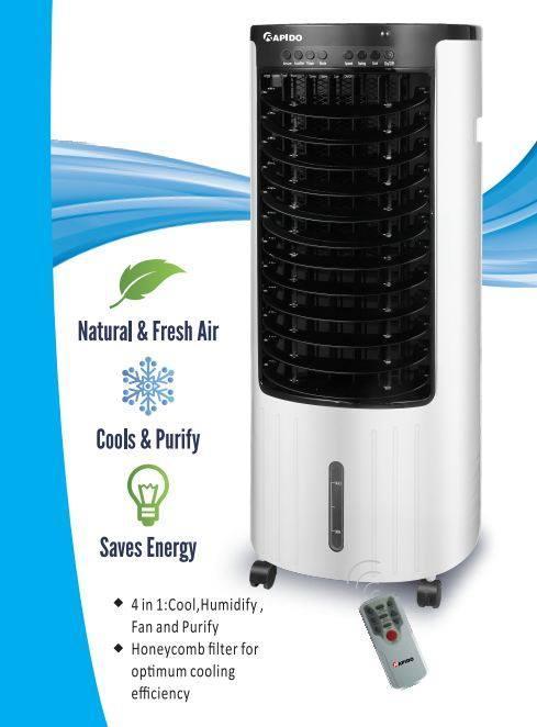 [Giá bùng nổ sinh nhật] Quạt điều hòa không khí Rapido Model RAC130-H (diện tích sử dụng: 15-20m2). Quạt hơi nước - Midea Mart
