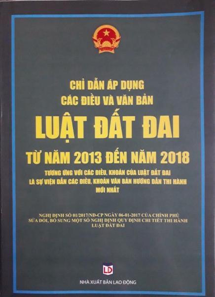 Mua Chỉ dẫn áp dụng các điều và văn bản luật đất đai từ 2013-2018