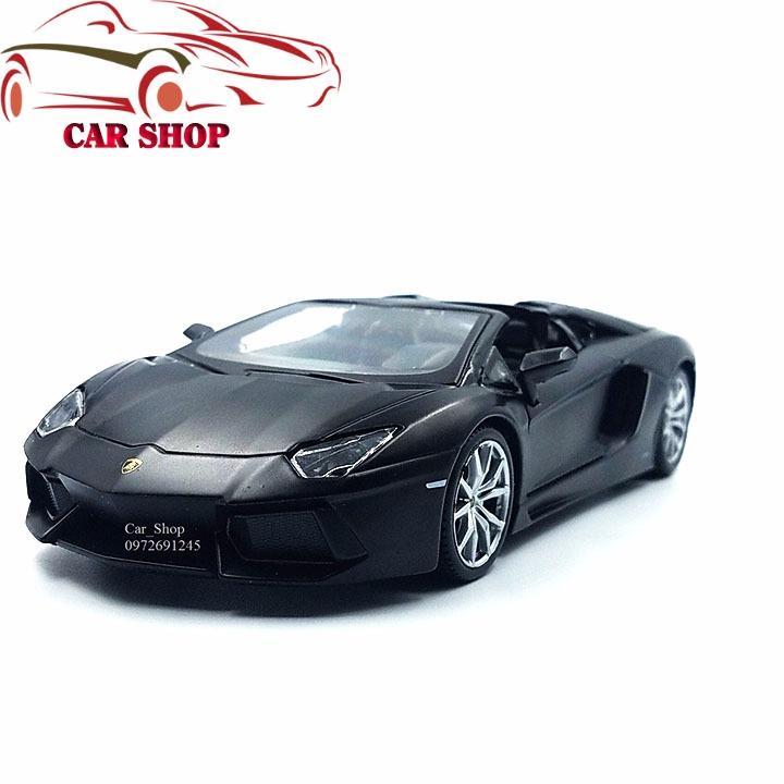 Ôn Tập Xe Mo Hinh Sắt Lamborghini Aventador Lp700 4 Mau Đen Tỉ Lệ 1 24