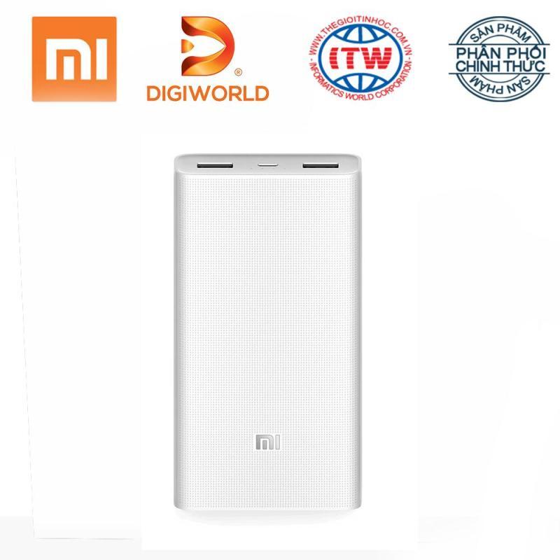 Giá Pin sạc dự phòng Xiaomi 20000 mAh Gen 2c (QC 3.0 hai chiều) - Hãng phân phối chính thức Digiworld