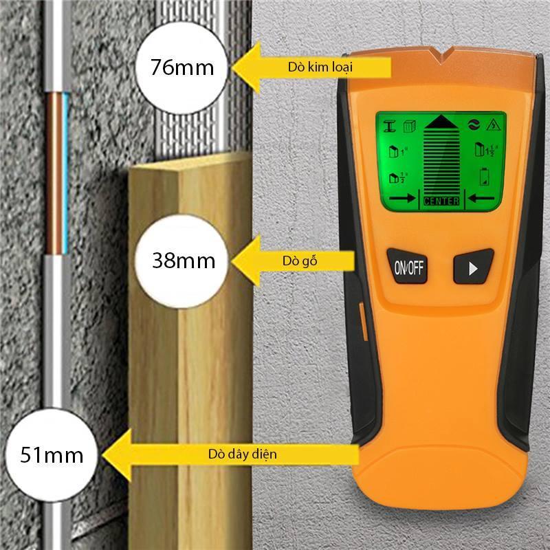 Máy dò điện âm tường TH250 thiết bị bảo về an toàn - Dò dây điện, kim loại , gỗ