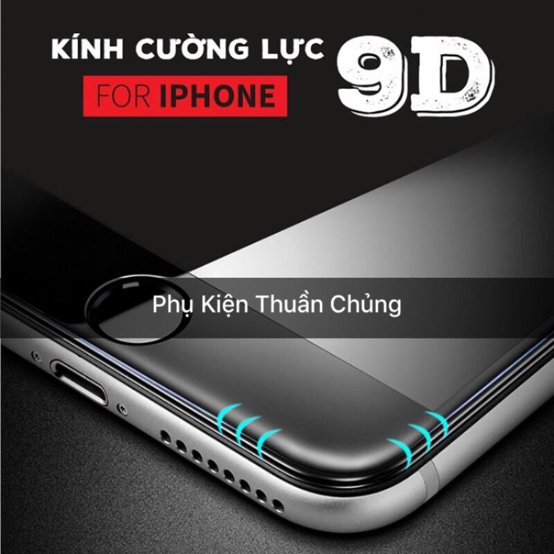 Kính cường lực 9D full màn hình Iphone 6,6s,7,8,x,6p,6sp,7p,8p,X đen