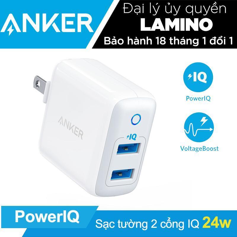 Giá Sạc ANKER PowerPort II 2 cổng 24w PowerIQ - A2027