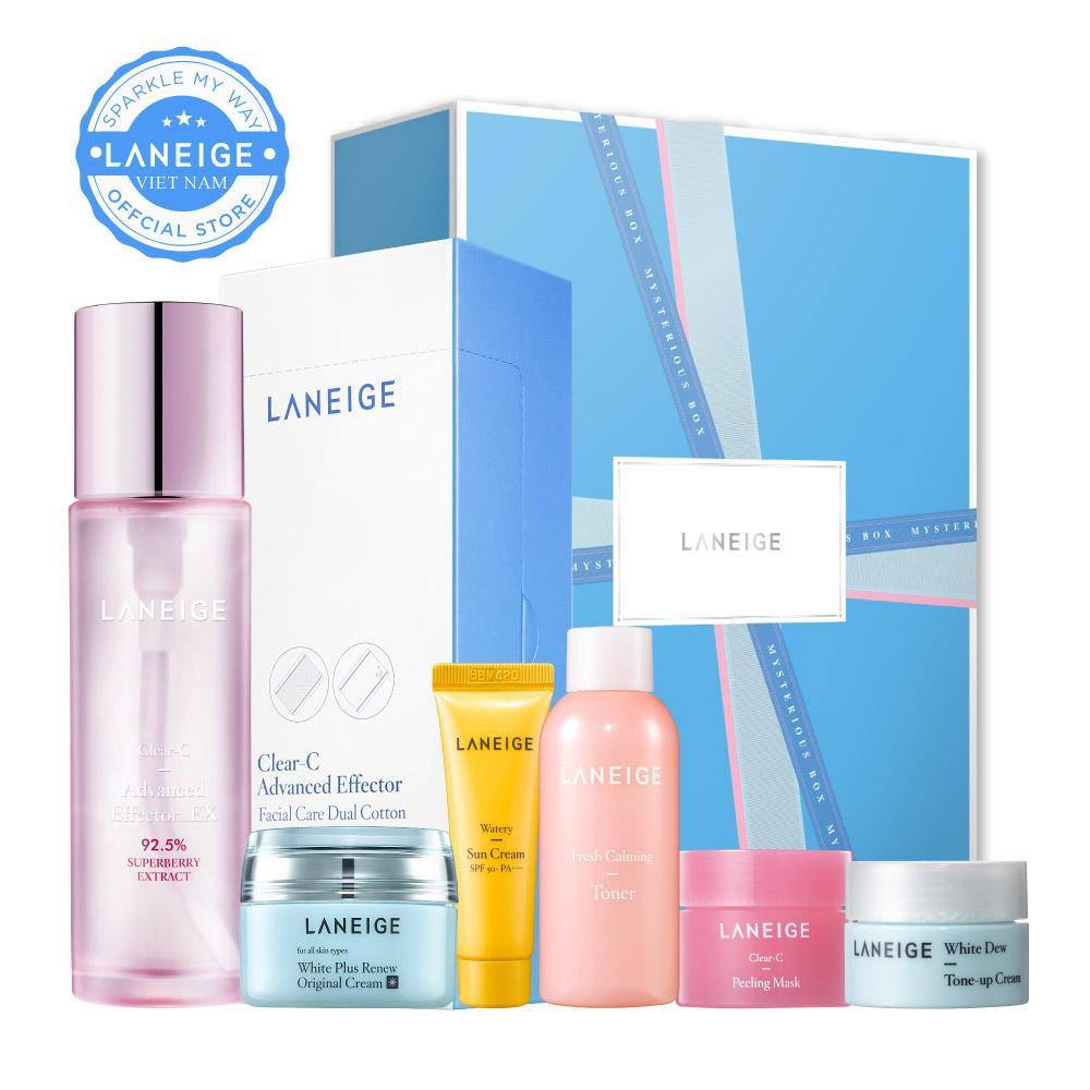 Bộ dưỡng Laneige Clear-C Advanced Effector trắng hồng sáng mịn
