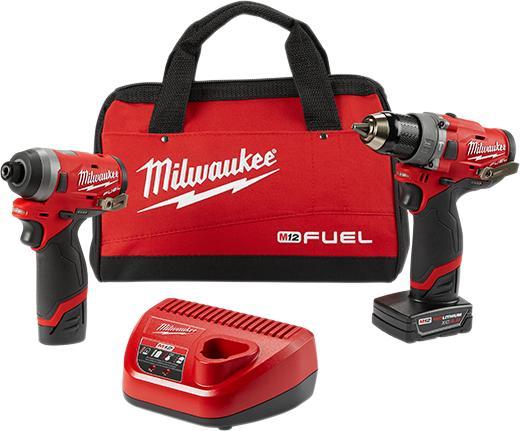 Combo máy khoan và bắn vít Milwaukee 12V 2598-22