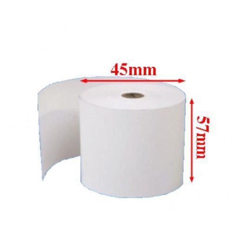 100 cuộn giấy in hóa đơn k57x45 - Giấy in nhiệt k57x45 - giấy in bill k57x45