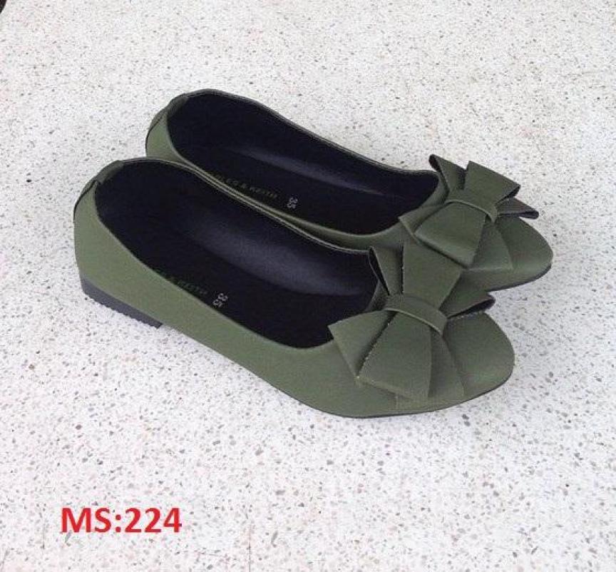 (Có mã giảm ship) Giày nữ, giày búp bê PinkShopGiayDep chất liệu da, êm chân, bền, xinh xắn PinkShopGiayDep - MS:224 giá rẻ