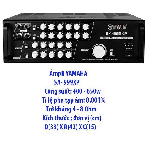 Âmpli YAMAHA SA - 999XP Karaoke