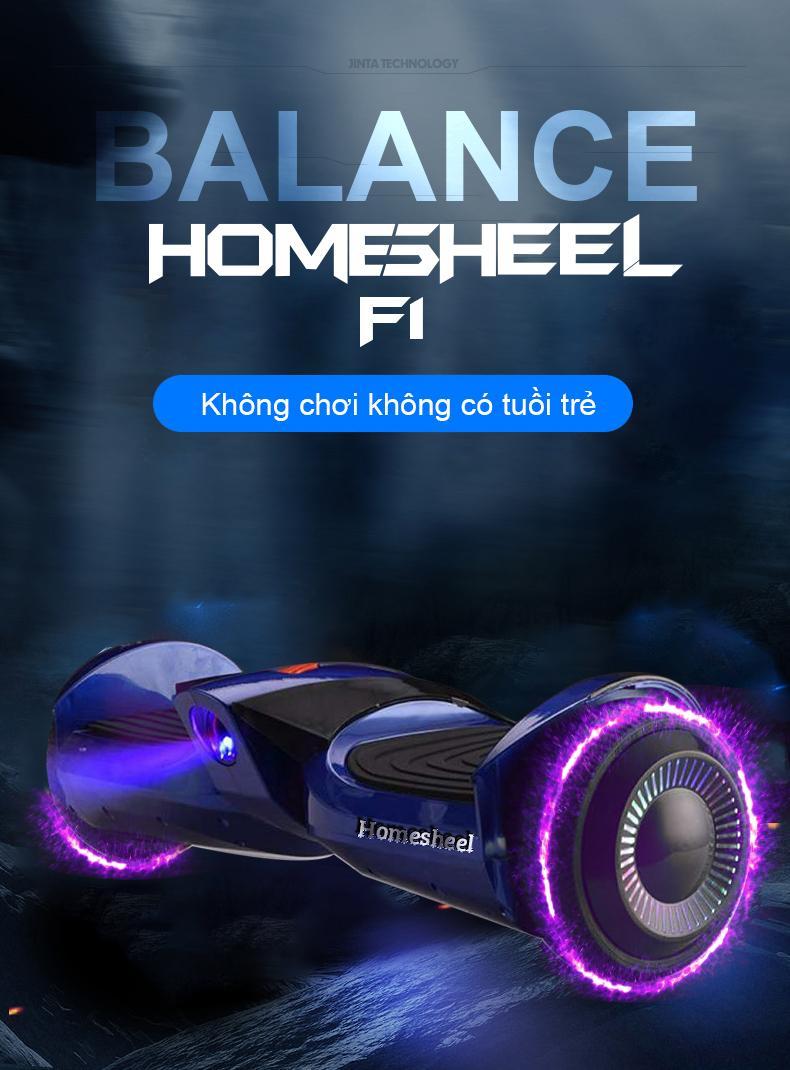 Mua Xe điện cân bằng HOMESHEEL F1 USA Phiên bản 2019 - Xanh dương đậm