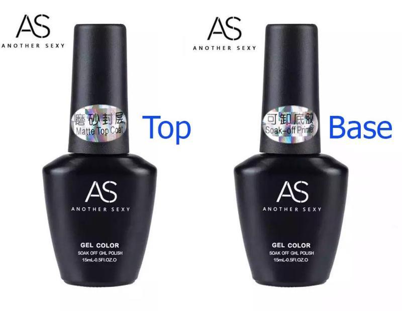 Sơn gel Bám - Top Lì AS 15ML (dành cho tiệm nail chuyên nghiệp) nhập khẩu