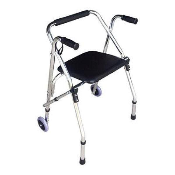 Khung tập đi có ghế ngồi da bọc đệm êm Lucass dành cho người đi già , đi lại khó khăn W-91 cao cấp