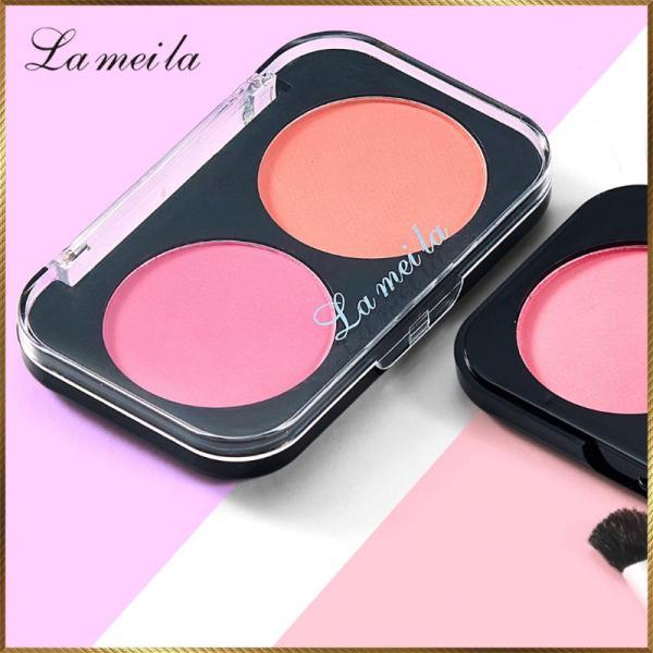 Phấn má hồng hộp 2 ô màu Lameila MHL21 cao cấp