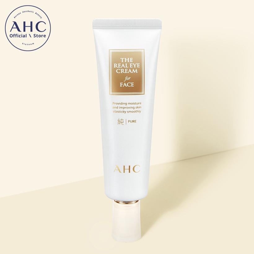 Kem dưỡng mắt có thể sử dụng cho da mặt AHC The Pure Real Eye Cream For Face 60ml