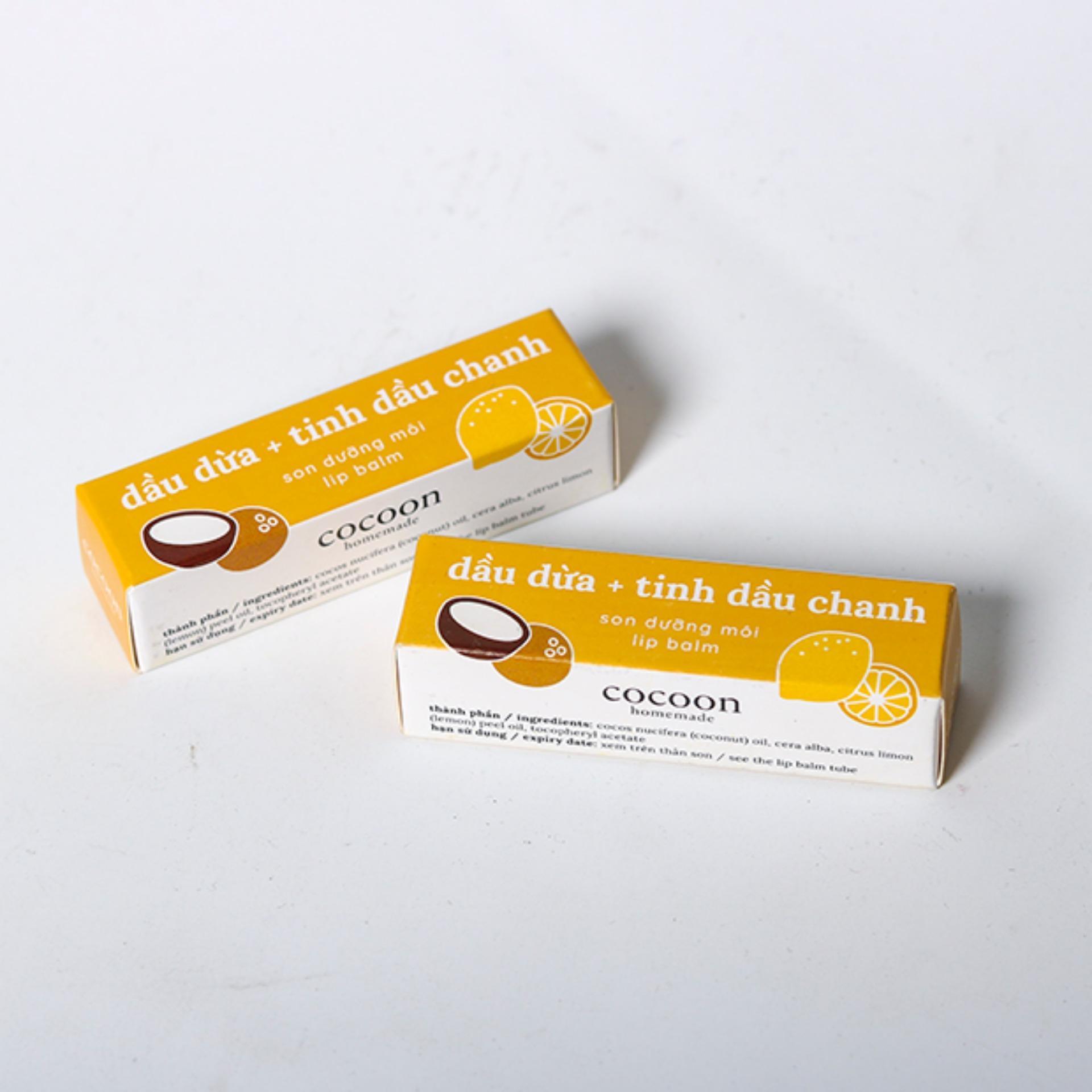 Bộ 2 thỏi Son dưỡng môi cocoon, trị thâm, làm mềm môi tiết kiệm hơn