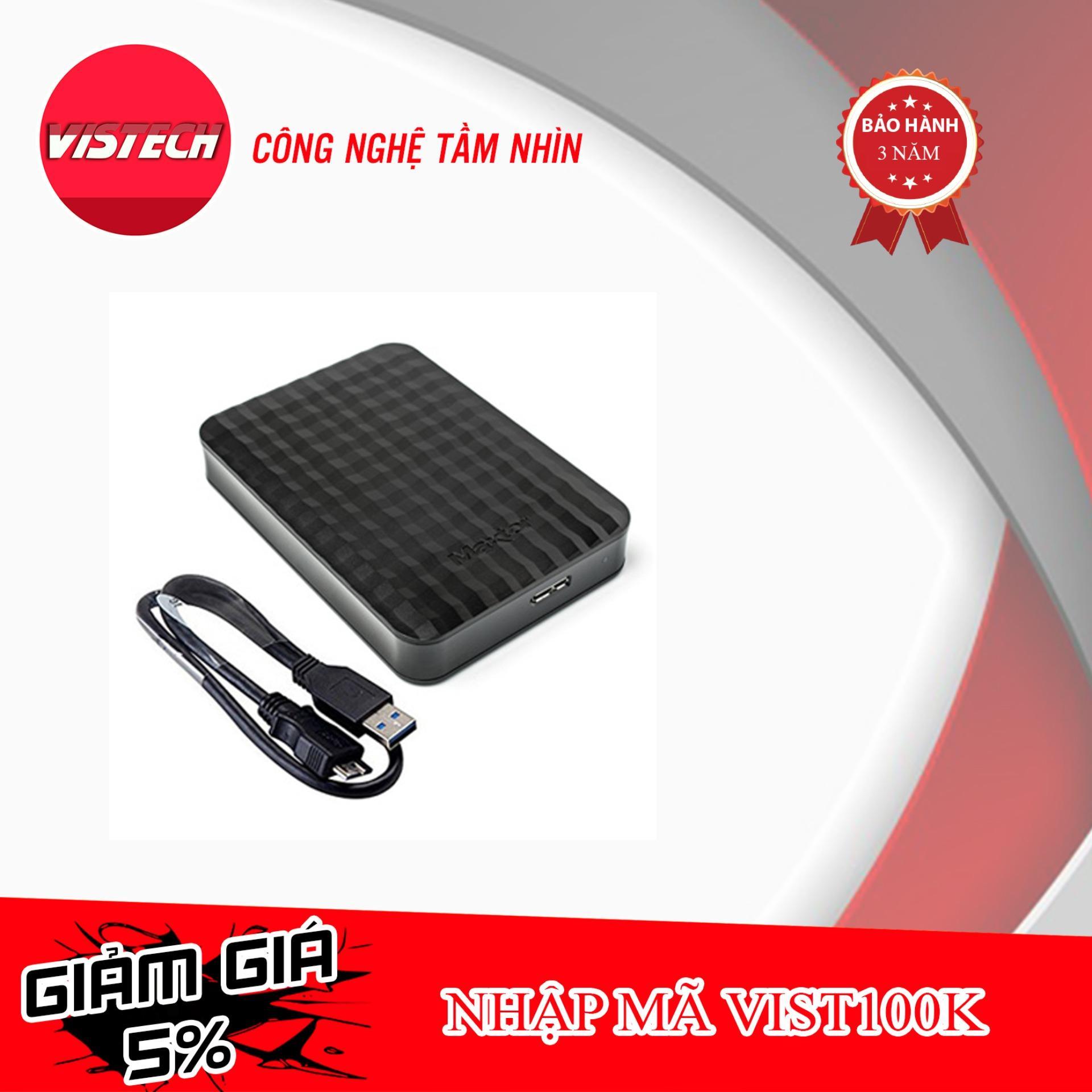 Ổ cứng di động Maxtor M3 1TB USB 3.0 Tặng kèm túi chống sốc - Hãng phân phối chính thức