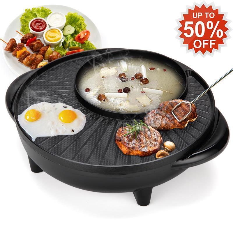 Bảng giá Bếp nướng điện giá rẻ - Bếp lẩu nướng 2 in 1 Hàn Quốc, Khay cách nhiệt tốt, Chống dính 3 lớp - KM 50% Điện máy Pico