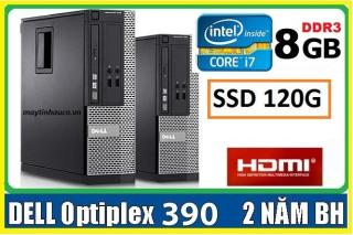 Máy tính để bàn đồng bộ Dell optiplex 390 ( Core i7 8G SSD 120G ),Có HDMI , Tặng USB wifi , Dây HDMI bàn di chuột - Hàng Nhập Khẩu thumbnail