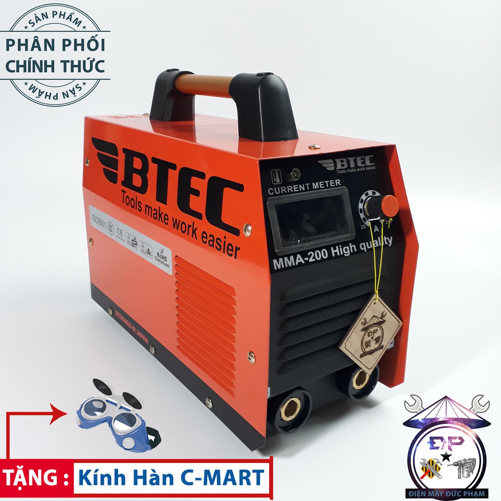 Máy Hàn điện tử inventer BTEC MMA-200 ( xác lớn hàn liên tục que 3.2 )