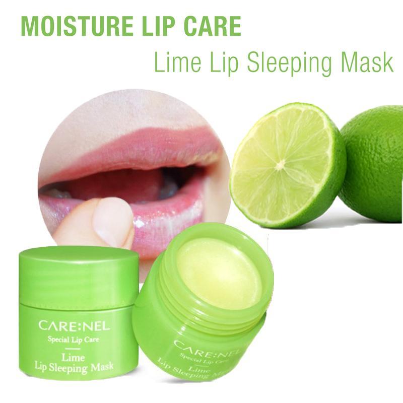 Mặt Nạ Ngủ Dưỡng Ẩm Sâu Cho Môi Care:nel Lip Sleeping Mask - Lime (Hương Chanh)