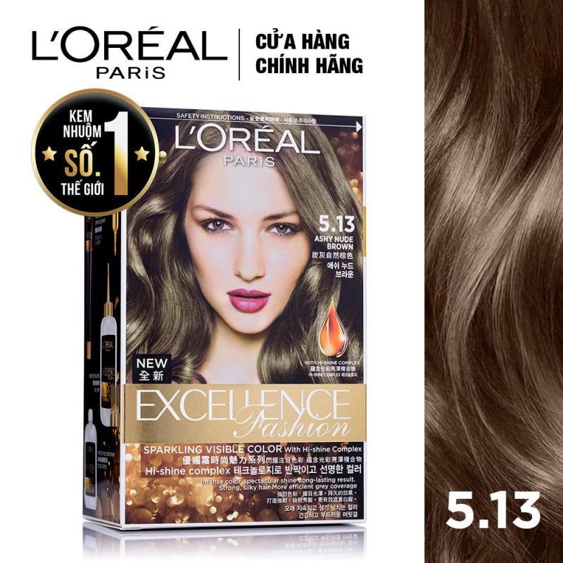 Kem nhuộm dưỡng tóc LOreal Paris Excellence Fashion màu #5.13 172ml (Nâu ánh tro) cao cấp