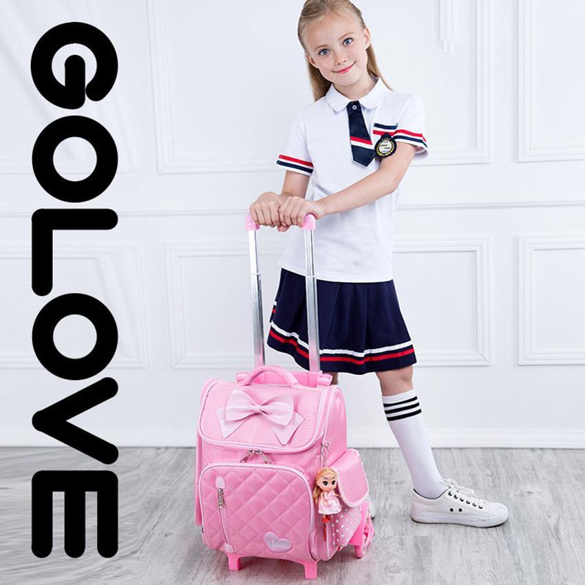balo học sinh.sở hữu ngay Balo chống gù lưng học sinh Golove kèm búp bê xinh xắn (Pink)- giảm giá đến 50% ngay hôm nay