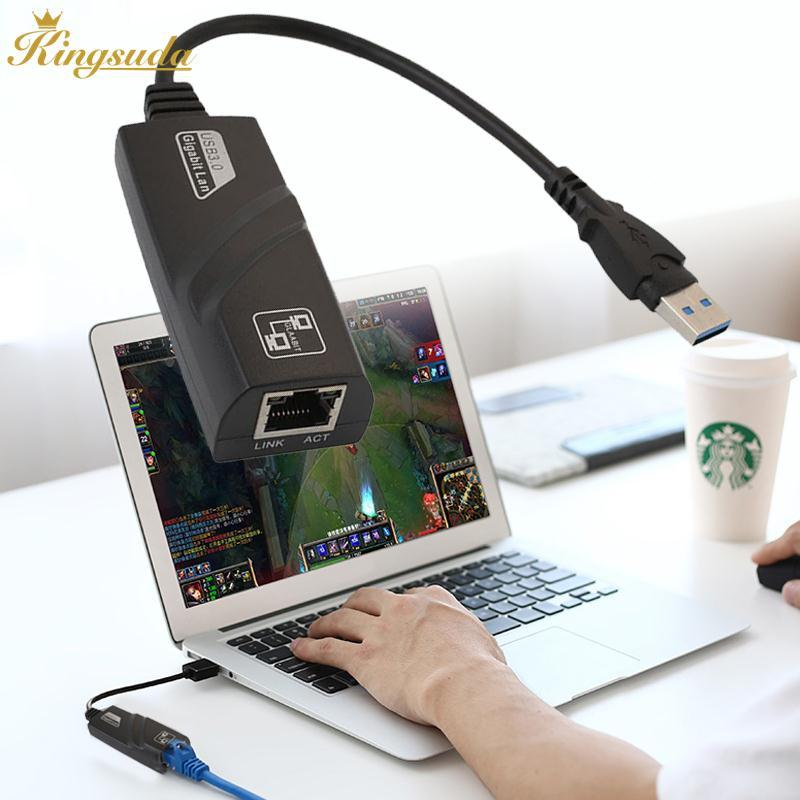 USB 3.0 to 10/100/1000Mbps Gigabit RJ45 Ethernet External LAN Card Adapter Hub