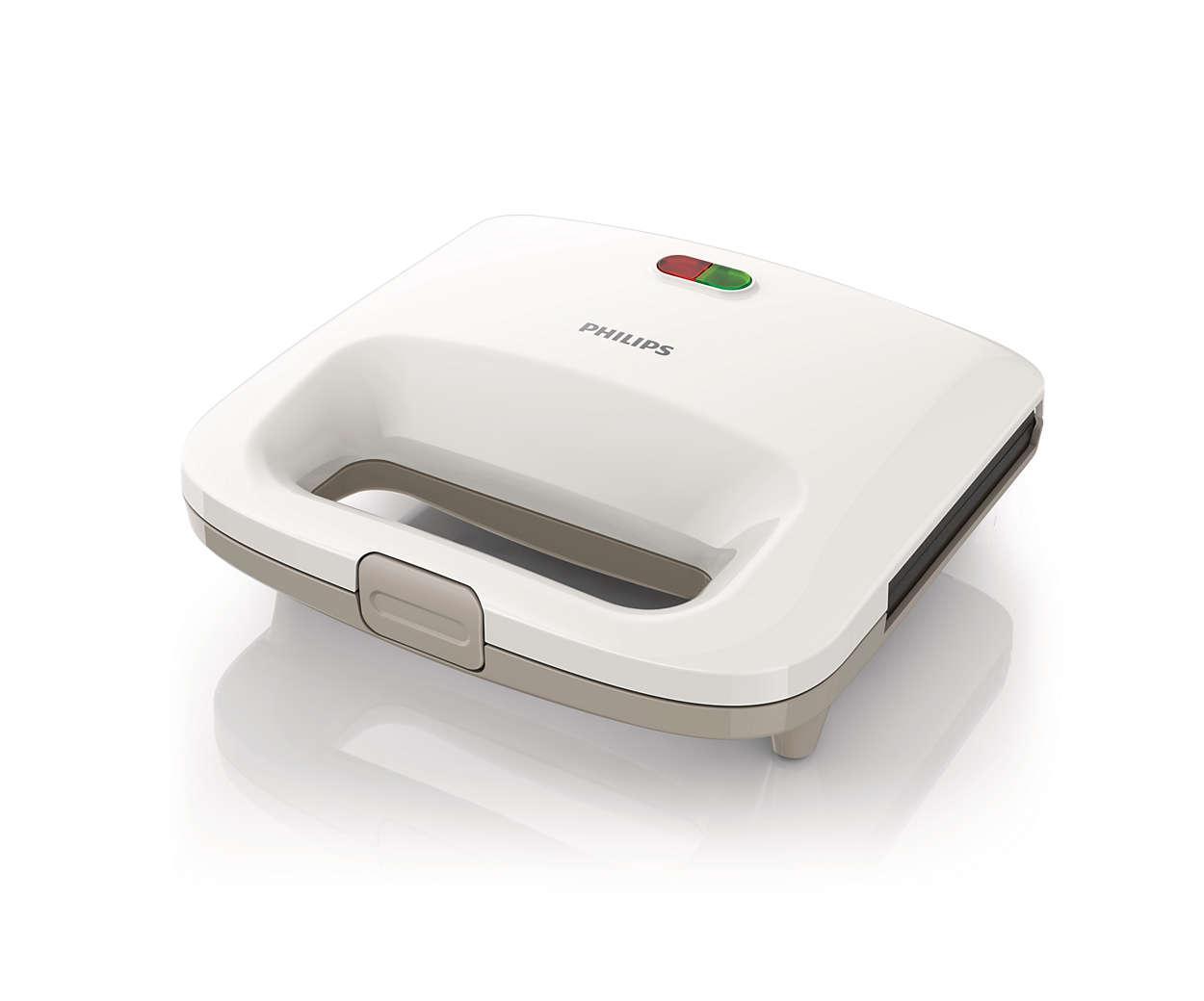 Hình ảnh Máy làm bánh sandwich Philips HD2393 (trắng) - Hàng nhập khẩu