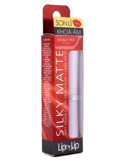 Son Lip On Lip Silky Matte 2.2g (đỏ cam), dòng son lì cao cấp, với công thức độc đáo từ hàng triệu hạt tinh thể màu siêu mịn, tôn lên vẻ đẹp cho đôi môi với những sắc màu chuẩn thumbnail