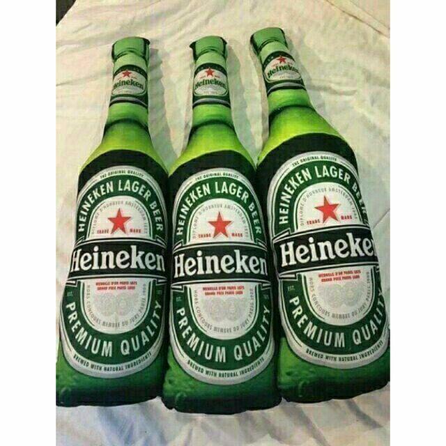Hình ảnh Gối ôm nhồi bông hình chai bia heineken