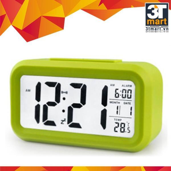 Đồng hồ báo thức kỹ thuật số với đèn LED nền cảm biến đa chức năng: thời gian lịch báo thức nhiệt độ - LC01 (Xanh lá) bán chạy