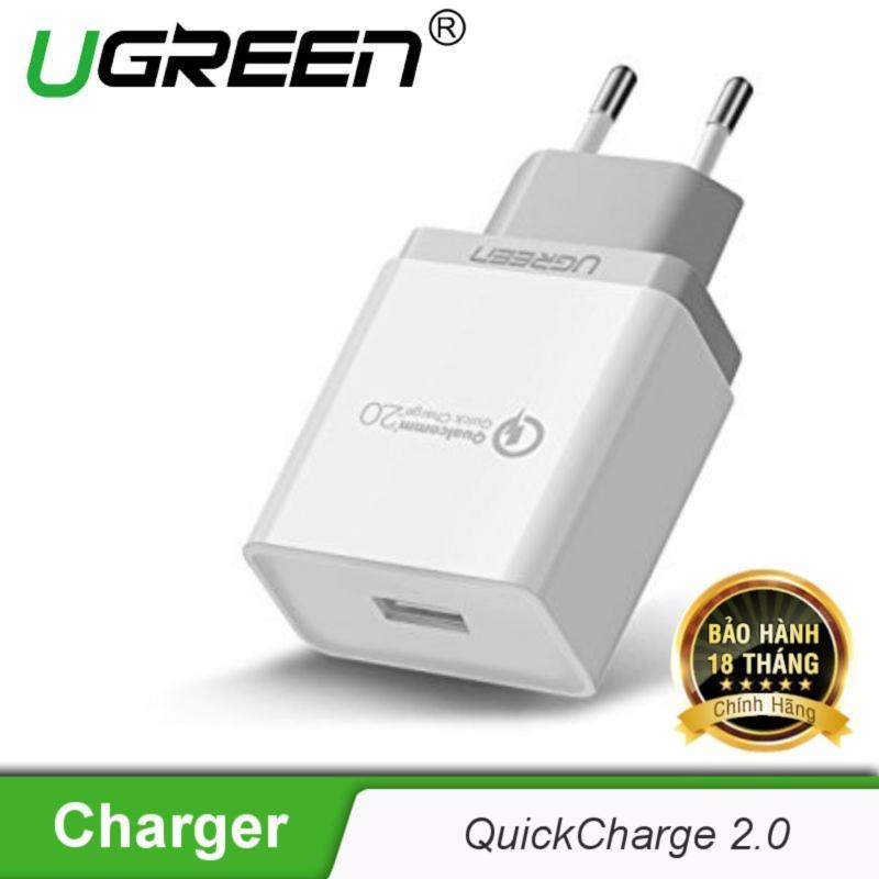 Giá Sạc nhanh Quick Charge 2.0 chân cắm chuẩn Châu âu (EU) UGREEN CD122 20901- Hãng phân phối chính thức