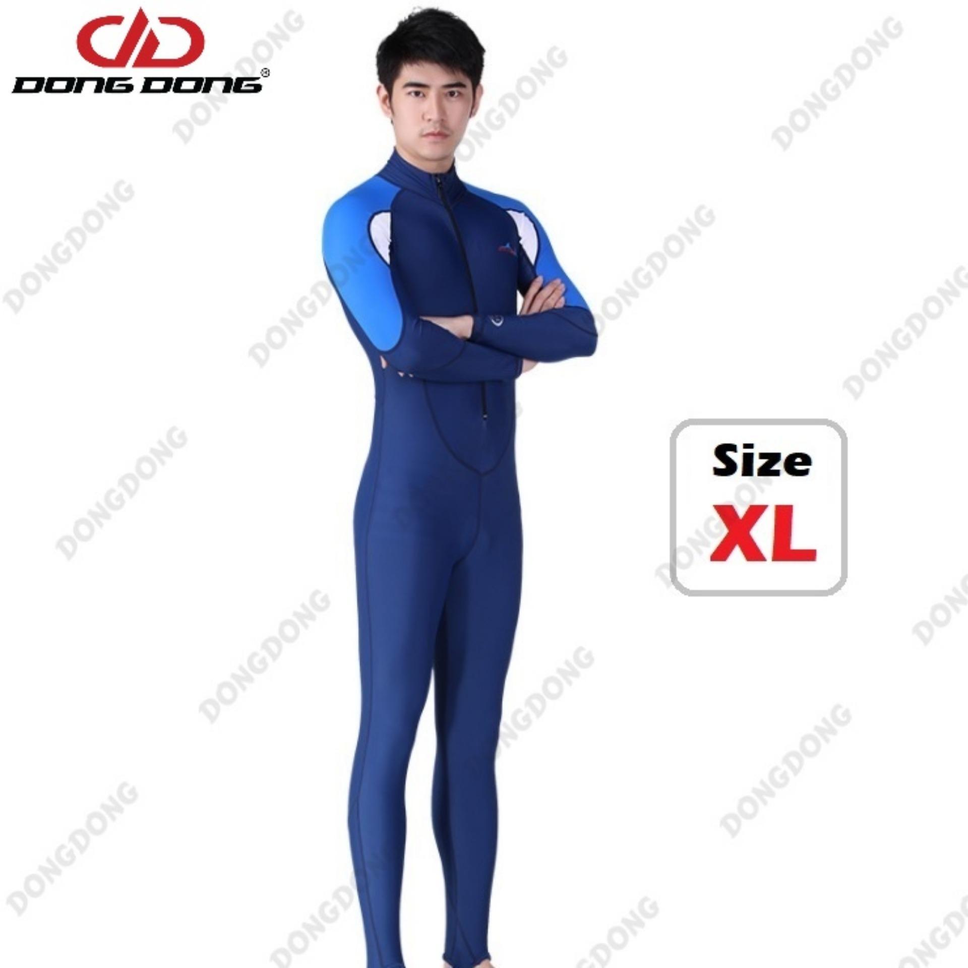 Quần áo lặn biển dài tay NAM - Size XL, cản tia UV 99% (UPF50+), chống nắng cao cấp - DONGDONG