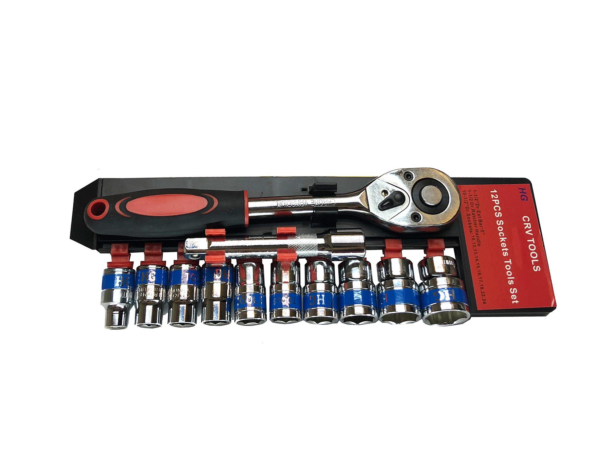 Bộ dụng cụ 1/2 mở bu lông, bộ khẩu mở ốc 1/2 đa năng 24mm - Loại tốt vặn không trờn