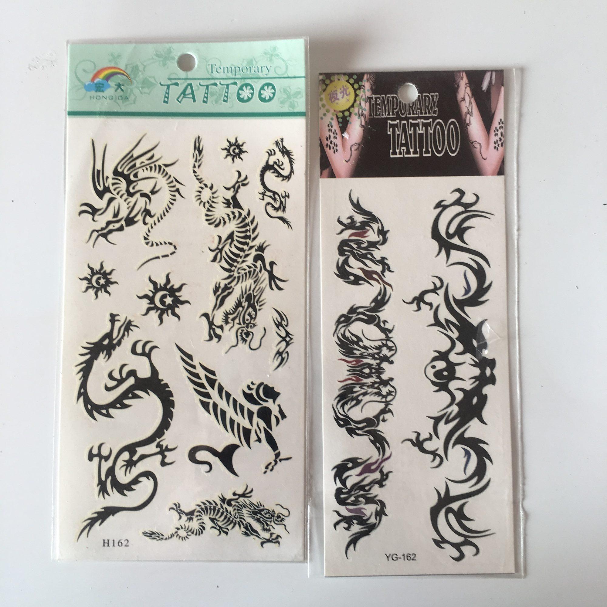 Hình ảnh COMBO 2 TẬP Hình xăm dán tattoo cao cấp - nghệ thuật cho nam nữ