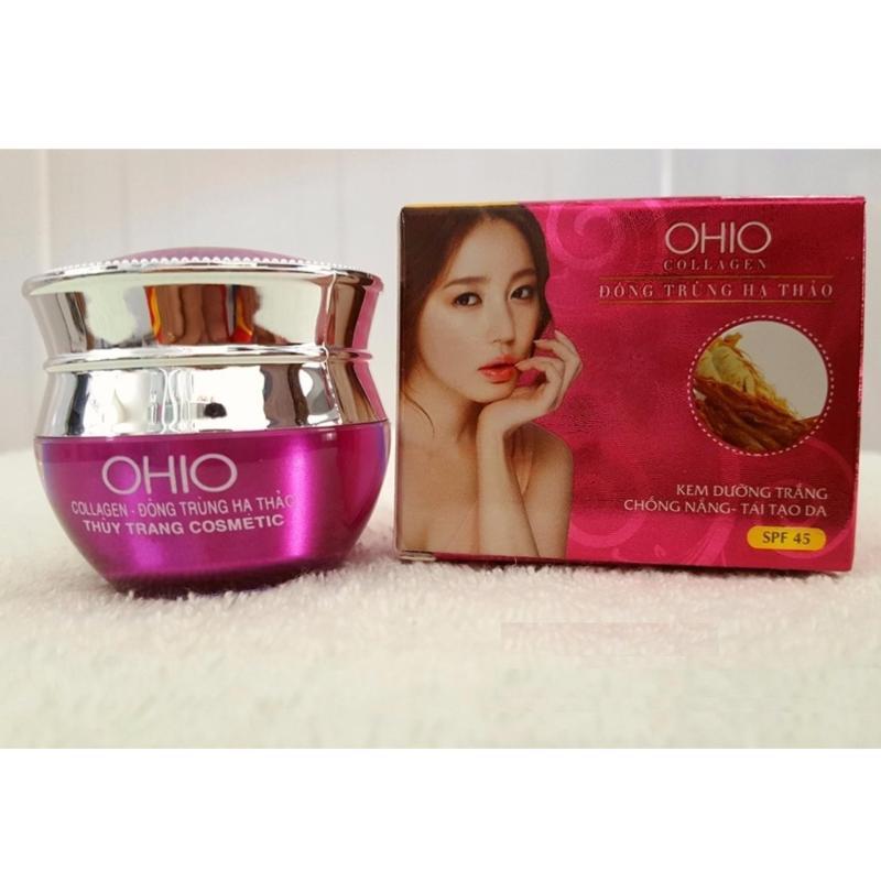 Kem dưỡng trắng, chống nắng, tái tạo da OHIO Collagen - Đông Trùng Hạ Thảo (20g) nhập khẩu