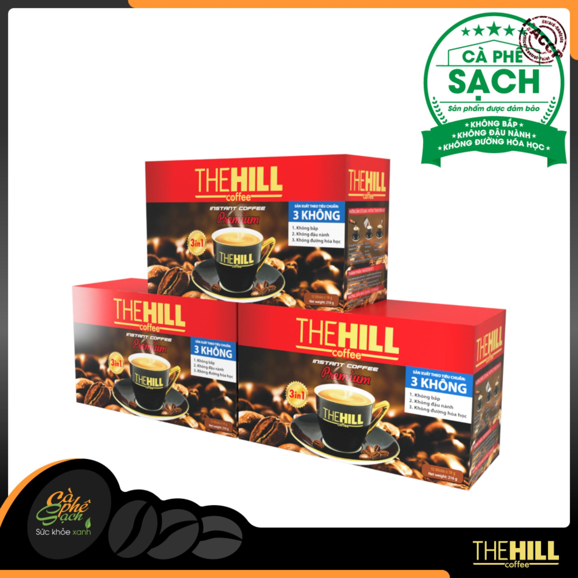 Giá Bán Combo 3 Hộp Ca Phe Hoa Tan The Hill Coffee Premium The Hill Coffee