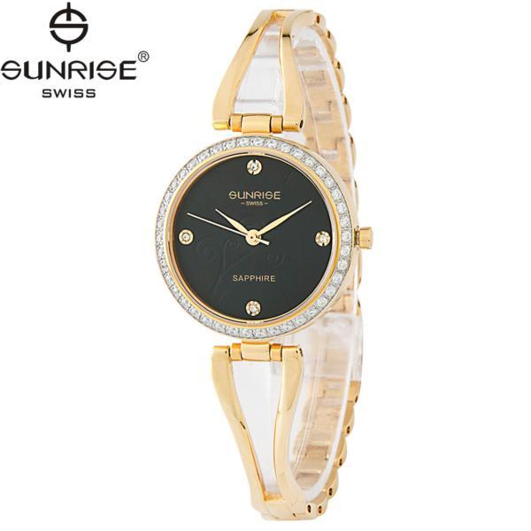 Đồng hồ nữ dây kim loại mặt kính sapphire chống xước Sunrise SL9934DLK D