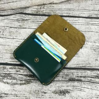 Ví nam nhỏ gọn, Ví mini da thật, Ví nam nhỏ gọn, Ví đựng thẻ ATM, Ví đựng giấy tờ, Ví đứng name card da bò handmade -MN6 thumbnail