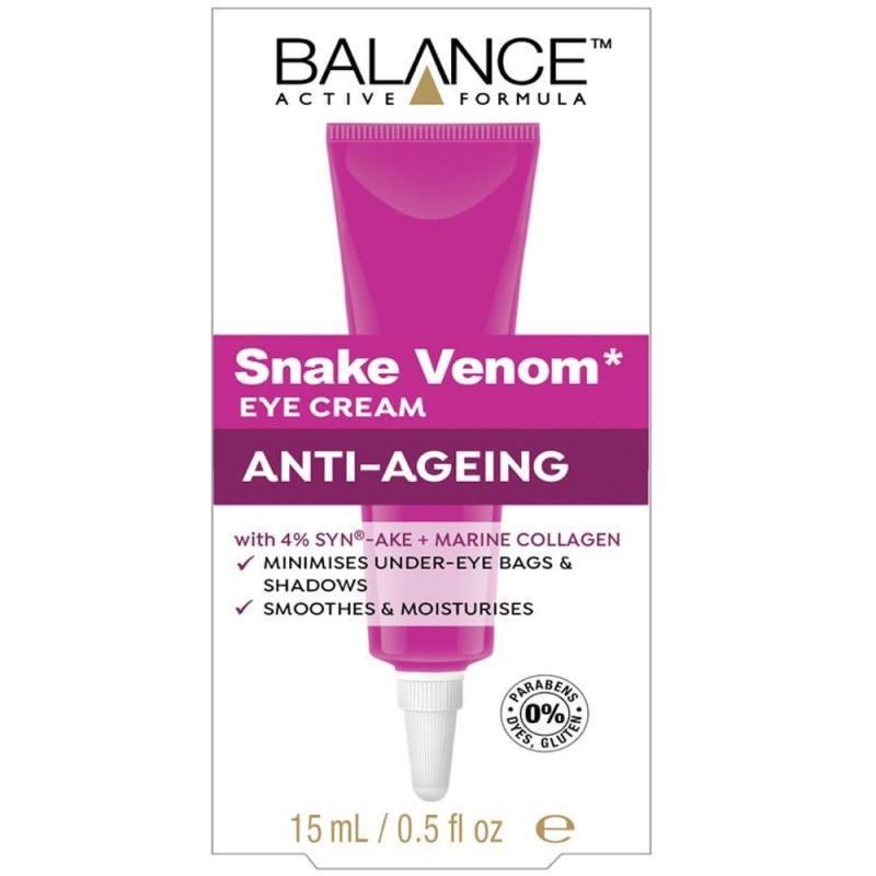Kem Dưỡng Da Vùng Mắt Balance Snake Venom Eye Cream Anti-Ageing 15ml