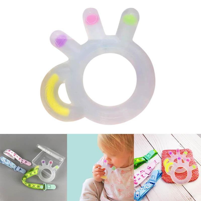 SBY Baby Teething Toys Teether Pacifier Ring Silicone Teether Baby Toys Teething Relief