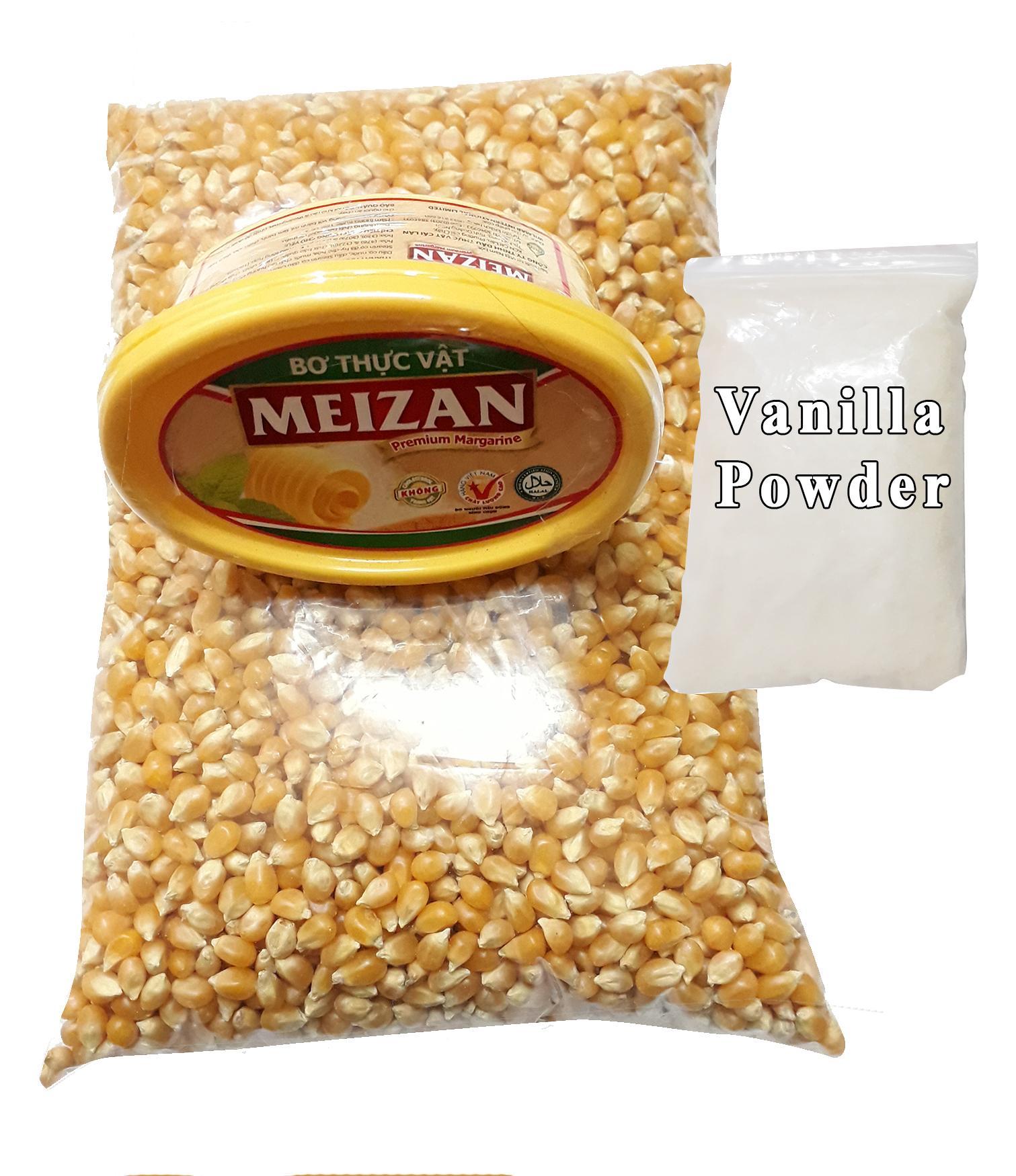 Hình ảnh Ngô mỹ 1kg+ bơ meizan 200g + 10g vani nổ bắp rang bơ vani tại nhà
