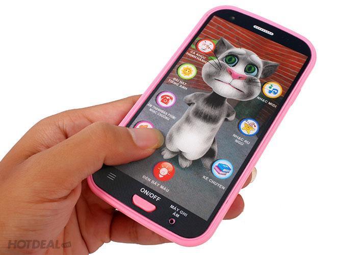 Hình ảnh Đồ chơi điện thoại mèo Tom giúp bé phát triển trí não, sáng tạo và thông minh