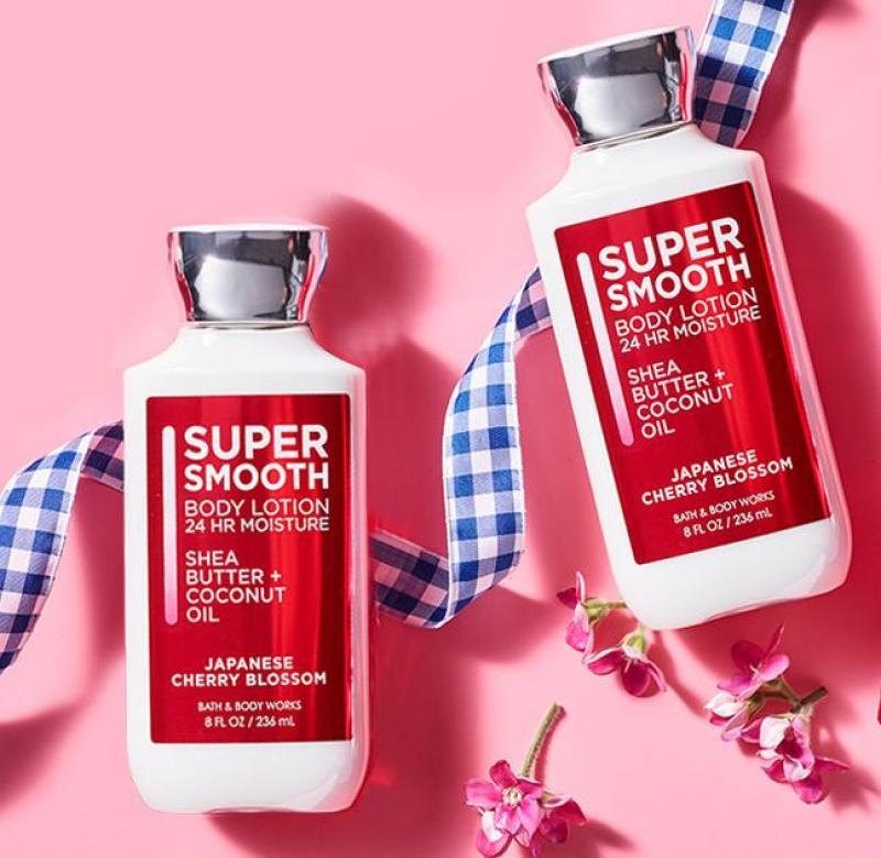 Sữa dưỡng thể Super Smooth Bath&Body work Cherry Blossom 236ml