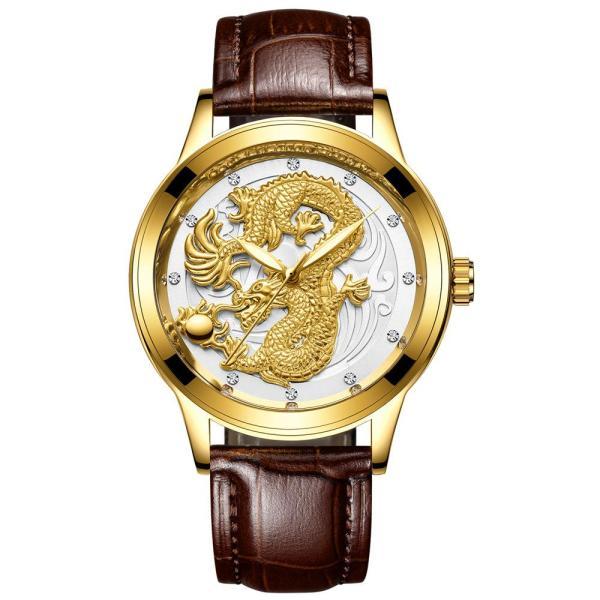 Đồng hồ thời trang nam dây da mặt rồng FNGEEN PKHRFNG001 - Ngọa hổ tàng long