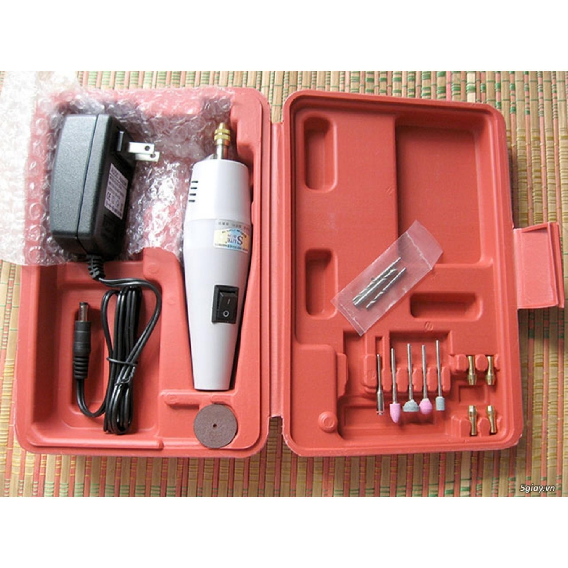 May khoan tay/  Máy cắt sắt cầm tay/  Máy khoan, cắt, mài mini đa năng : Máy quay nhanh và mạnh, Sử dụng AC 12V- 0904