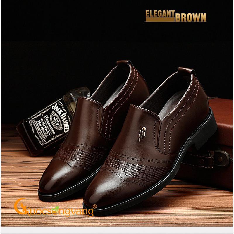Giày nam tăng chiều cao vô hình giày tây nam tăng chiều cao +6cm GLG070
