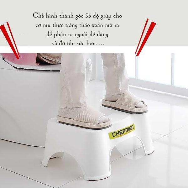 Ghế kê chân toilet Dr.ChaiR