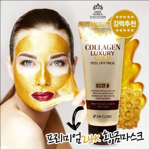 Giá Bán Mặt Nạ Lột Tinh Chất Vang 24K 3W Clinic Collagen Luxury Gold Peel Off Pack 100G Trực Tuyến Hồ Chí Minh